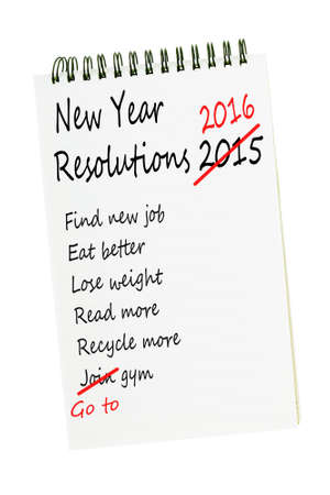 resolutions: New Year Resolutions list 2016. No change there then!