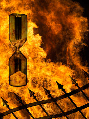 hell: Time running out, hell concept Stock Photo