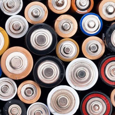 residuos toxicos: Ecol�gicos ONU pilas alcalinas, residuos t�xicos. Foto de archivo