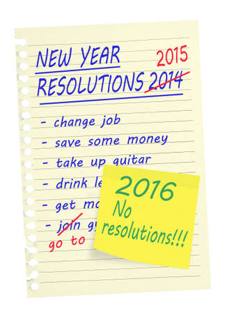 bother: New Year Resolutions 2016. Why bother