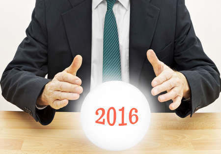 clairvoyant: Business budget clairvoyant 2016.  Stock Photo