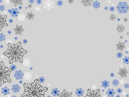 fairly: Fairly generic silver blue and grey snowflake winter background. Stock Photo
