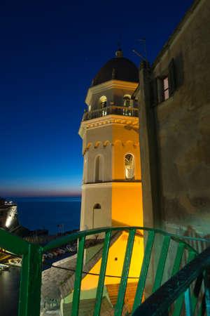 catholocism: Vernazza, Cinque Terre, Italy. Chiesa di Santa Margherita dAntiochia