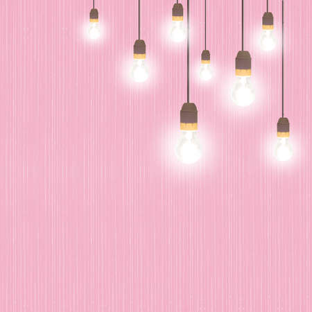 fifties: Retro style light bulb background. Fifties. Stock Photo