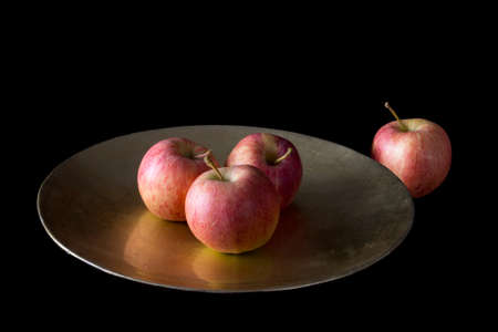 exclusion: Exclusion, loneliness concept. Apples stll life. Stock Photo