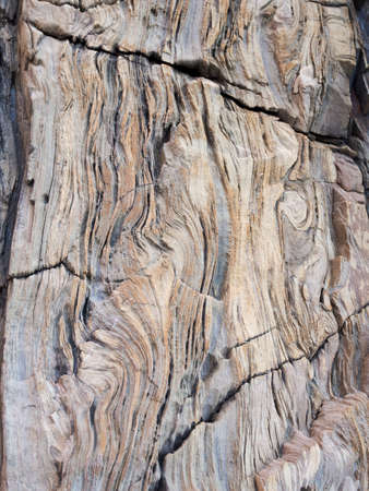 contorted: Rock formation, contorted. Possibly sandstone.