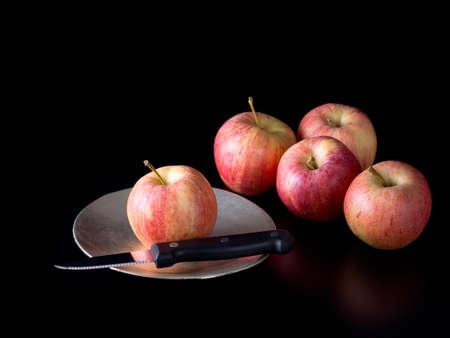symbolic: The chosen one. Apples. Symbolic, doomed. Stock Photo