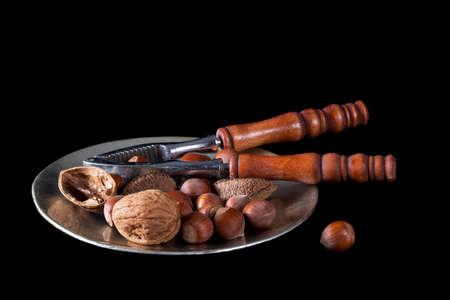 elote: Avellana, nueces de Brasil, mazorca y las almendras.
