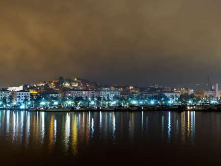 spezia: Autumn 2015. La Spezia city seafront by night