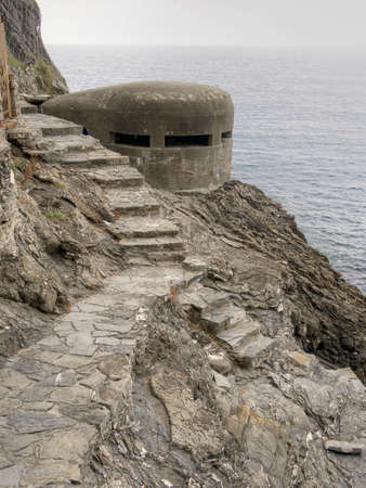 pillbox: Second wold war remains. Pillbox onMediterranean coast, Italy