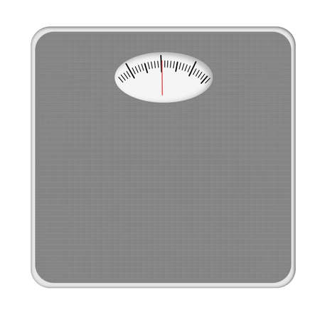 numers: Generic bathroom scales, isolated. No numers etc.
