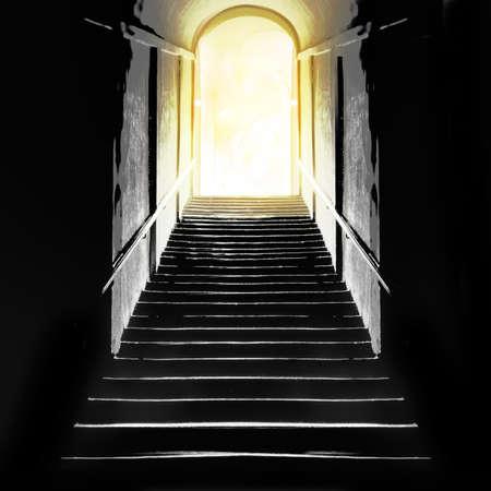 near death: Concept. Near death experience.