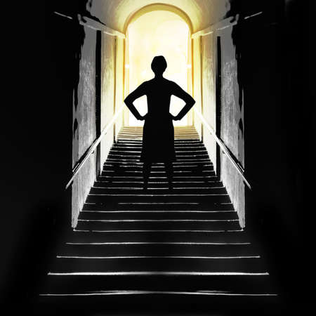 kingdom of heaven: Near death experience concept. Light. Stock Photo