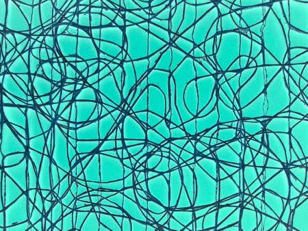 green lines: Blue green random lines.