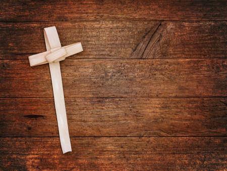 Palm Sunday cross religious background. 스톡 콘텐츠