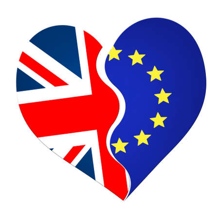 jack of hearts: Potentially divisive split. UK EU referendum, vote, Stock Photo
