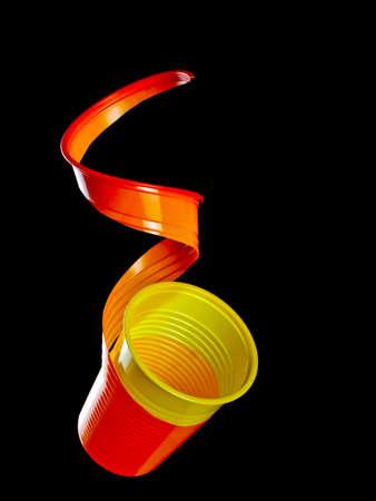 lit: Back lit cut cup. LIke peeled orange fruit!