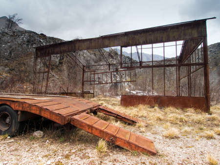 abandoned: Abandoned places. Old industrial site. Stock Photo