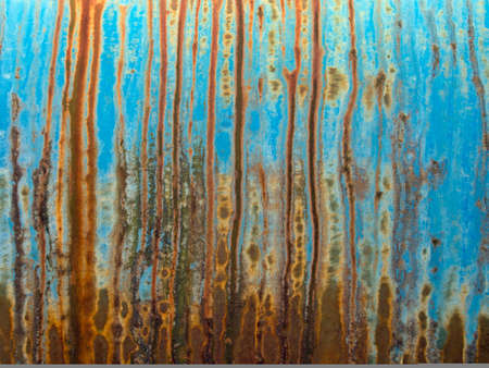Rust paint pattern, background on on old oil tanker.
