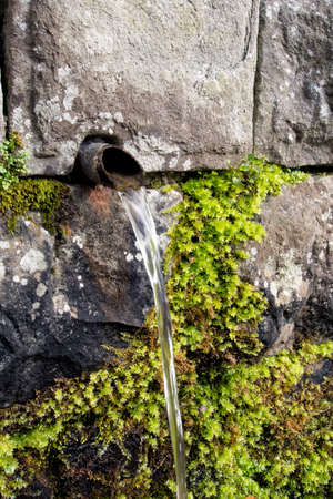 local supply: Free, untaxed spring water. Stock Photo