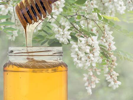 Luxurious acacia honey, usually organic.