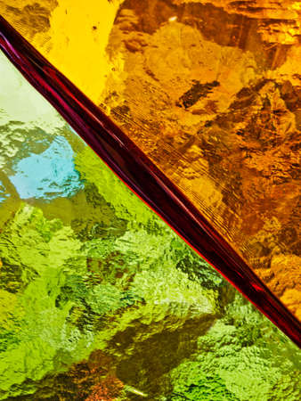 Dividing line in glass. Abstract conceptual background.