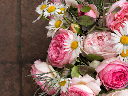 imperfect: Natural, imperfect and genuine! Rustic bouquet. Stock Photo