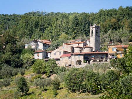 typical: General view of typical village, Lunigiana. Alebbio.