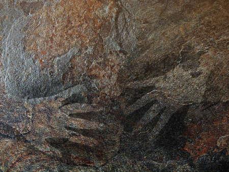 stoneage: Cave art style hand stencil