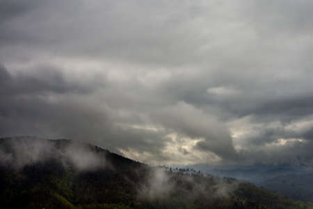 glowering: Lunigiana, Italy. Bad weather storm arriving.
