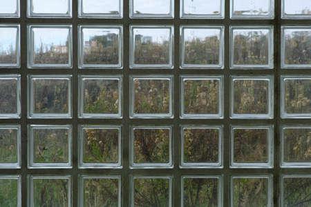 Nature through glass. Each square seems like a small watercolour.