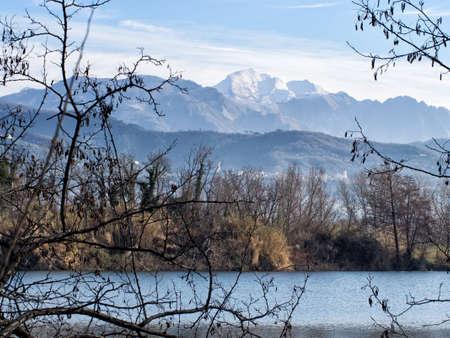 Bozi di Sudino, Sarzana. Apuan Alps, the marble mountains, behind.