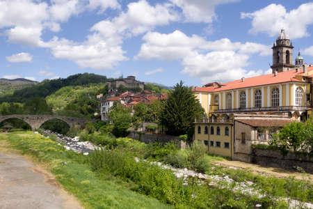 Spring day 2018. Pontremoli town, Lunigiana, Italy. On Via Francigena pilgrim route.