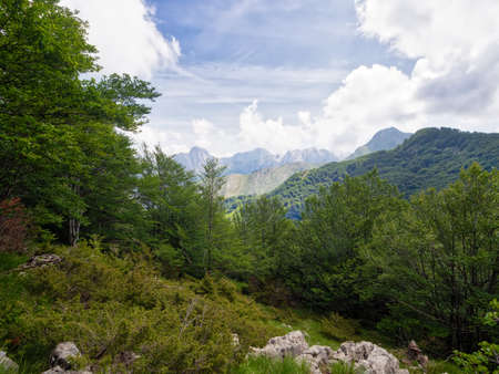 Beautiful natural landscape. Apuan Alps WITHOUT a quarry in sight! Stok Fotoğraf