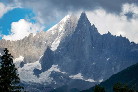 Change in the weather in the European Alps, summer, near Chamonix Mont Blanc.