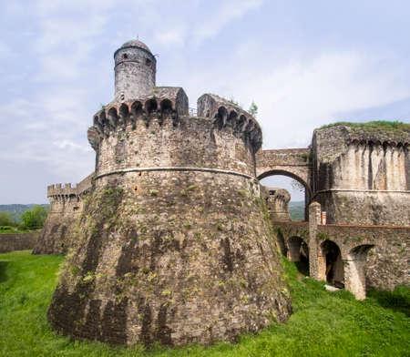 Medieval fortress known as Fortezza di Sarzanello, Sarzana, Italy.