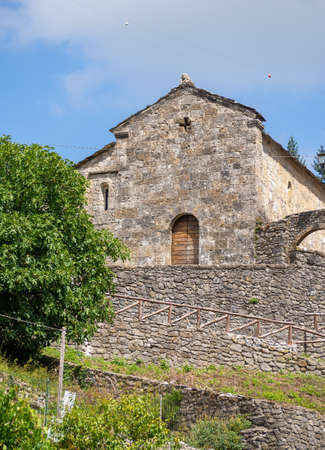 Ancient church in Vagli Sotto, in Garfagnana, Italy. Dedicated to St Augustine it dates back to the 11th century and sits next to a former convent.