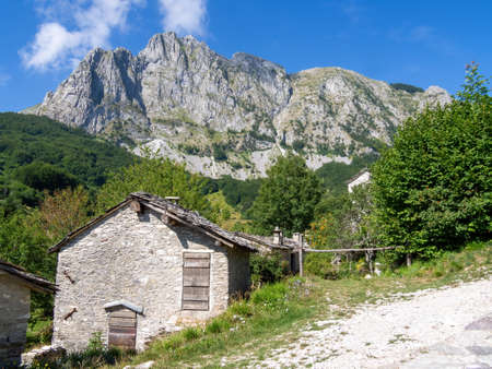 Campocatino in the Apuan Alps, aka Vagli Sotto. Beautiful forgotten gem in Garfagnana, Italy. Off the beaten track. Archivio Fotografico