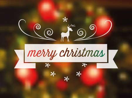 streckbilder: line art vector christmas sign on blurred festive background