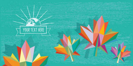 fall background: colorful fall background polygonal