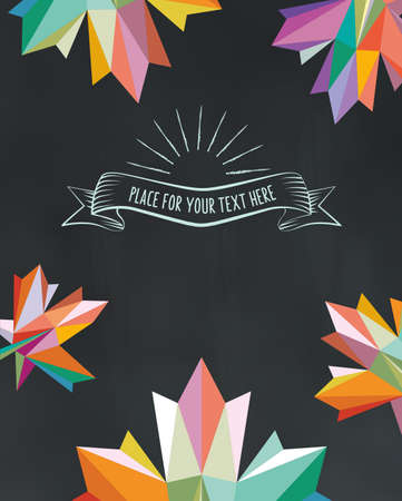 fall background: fall background on chalkboard