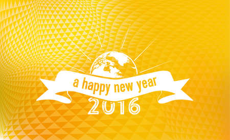 new ideas: New Year 2016 on golden badge vibrant background Illustration