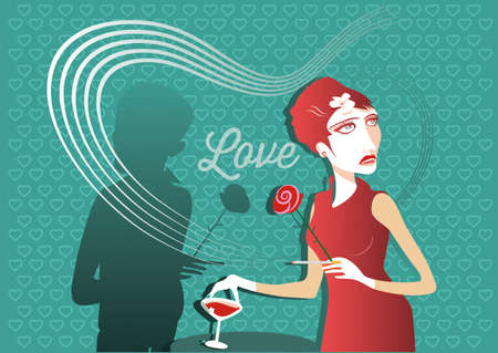 date: blind date and love Illustration