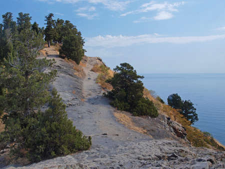 Natural landscape of the rocky Sonth coast of Crimea photo