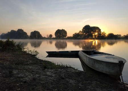 Sunrise on the Desna River