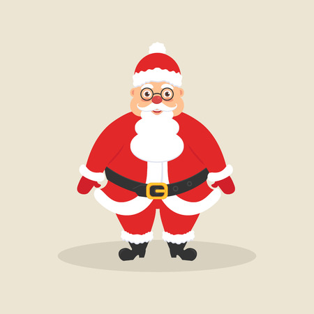 Cute Santa. Character for Christmas and New Year. Modern flat design. Illustration