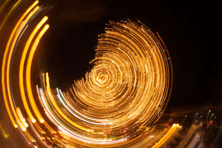 multiple exposure: Light Painting with the camera movement