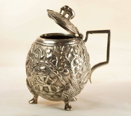 indian mustard: Indian Silver Mustard Pot