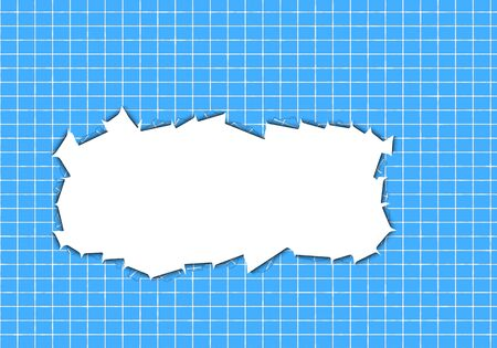 white hole: tile and a white hole Stock Photo