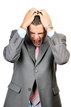 panique: d'affaires un moment difficile